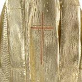Immagine di 'Casula oro con ricamo a croce stilizzata'