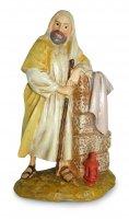 San Giuseppe inginocchiato con lanterna Linea Martino Landi - presepe da 12 cm