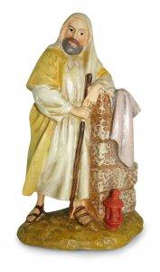 Copertina di 'San Giuseppe inginocchiato con lanterna Linea Martino Landi - presepe da 12 cm'
