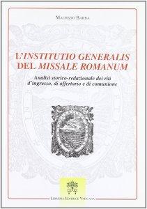Copertina di 'L' «institutio generalis» del missale romanum'
