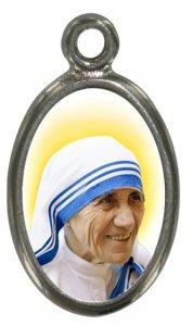 Copertina di 'Medaglia Madre Teresa di Calcutta in metallo nichelato e resina - 1,5 cm'