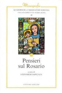Copertina di 'Pensieri sul rosario'