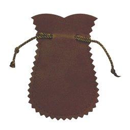 Copertina di 'Portarosario anfora in panno vellutato di colore marrone - 12 x 7 cm'