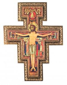 Copertina di 'Crocifisso di San Damiano stampa in rilievo - 42 x 31 cm'