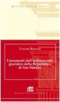 Lineamenti dell'ordinamento giuridico della Repubblica di San Marino - Ronzani Claudio