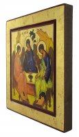 Immagine di 'Icona Trinità di Rublev, produzione greca su legno - 27 x 25 cm'