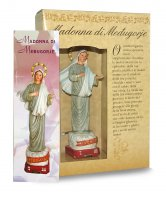 Immagine di 'Statua della Madonna di Medjugorje da 12 cm in confezione regalo con segnalibro'