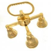Immagine di 'Gruppo di tre campanelli in ottone dorato - dimensioni 12,5x13 cm'