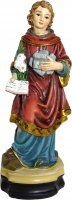 Statua Santo Stefano da 12 cm in confezione regalo con immaginetta di  su LibreriadelSanto.it