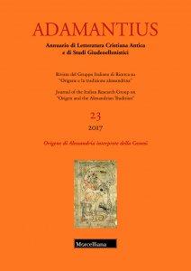 Copertina di 'Adamantius. 23/2017: Origene di Alessandria interprete della Genesi.'