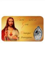 Card medaglia Sacro Cuore di Gesù (10 pezzi)