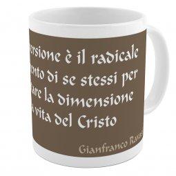 """Copertina di 'SpiriTazza """"La conversione"""" (Gianfranco Ravasi) - Mod. Marrone'"""