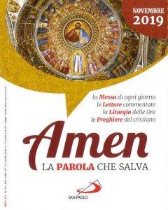 Copertina di 'Amen. La parola che salva. Novembre 2019'