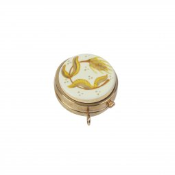 Copertina di 'Teca eucaristica ostie in ceramica Modello Spiga di grano - Ø 5 cm'