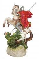 Immagine di 'Statua di San Giorgio da 12 cm in confezione regalo con segnalibro in IT/EN/ES/FR'
