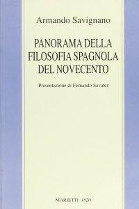 Copertina di 'Panorama della filosofia spagnola del Novecento.'