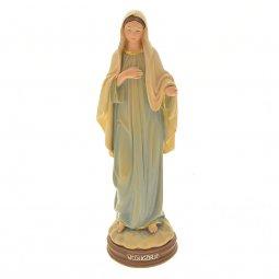 Copertina di 'Statua Madonna di Medjugorje in resina colorata - altezza 15 cm'