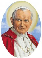 Adesivo resinato per rosario fai da te misura 1 - S.Giovanni Paolo II