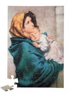 """Copertina di 'Puzzle """"Maria con il Bambino addormentato"""" (48 pezzi)'"""