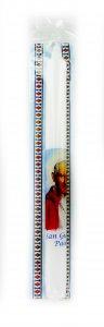 Copertina di 'Candela San Giovanni Paolo II in blister con immagine San Giovanni Paolo II e Gesù Misericordioso cm 4,5 x 25,5'