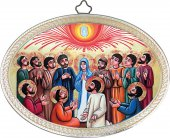"Icona ovale ""Pentecoste"" - lunghezza 14,5 cm"