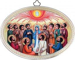"""Copertina di 'Icona ovale """"Pentecoste"""" - dimensioni 14,5x10,5 cm'"""