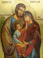 Immagine di 'Icona Sacra Famiglia, produzione greca su legno - 36 x 47,5 cm'
