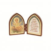 Immagine di 'Dittico ogivale con Bambinello e preghiera'