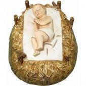 Gesù Bambino con culla Linea Martino Landi - presepe da 50 cm