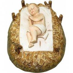 Copertina di 'Gesù Bambino con culla Linea Martino Landi - presepe da 50 cm'