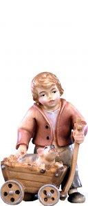 Copertina di 'Bimbo con carretto H.K. - Demetz - Deur - Statua in legno dipinta a mano. Altezza pari a 11 cm.'