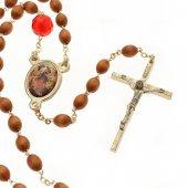 """Rosario in legno """"Madonna che scioglie i nodi"""""""