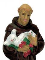 Immagine di 'Statua da esterno di San Francesco d'Assisi in materiale infrangibile, dipinta a mano, da 60 cm'