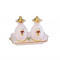 Copertina di 'Ampolline anfora in ceramica con simbolo Tau - Modello Bianco oro'