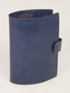 Copertina di 'Custodia in pelle con bottone per Liturgia delle ore volume unico - colore blu'