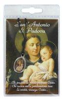 Medaglia resinata Sant'Antonio con laccio e preghiera di  su LibreriadelSanto.it