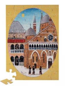 """Copertina di 'Puzzle """"Scorcio della Basilica del Santo e del chiostro"""" (48 pezzi)'"""