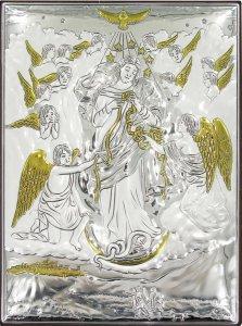 Copertina di 'Quadretto Bassorilievo di Maria che scioglie i nodi, Argento 999 (18 x 13,5 cm)'