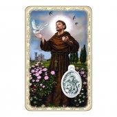"""Card """"San Francesco"""" con preghiera e medaglia - (10 pezzi)"""