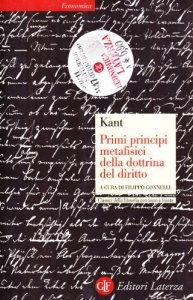 Copertina di 'Primi principi metafisici della dottrina del diritto. Testo tedesco a fronte'