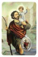 Card San Cristoforo in PVC - misura 5,5 x 8,5 cm - Italiano