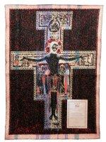 """Immagine di 'Arazzo sacro """"Crocifisso di San Damiano"""" - dimensioni 64x44 cm'"""