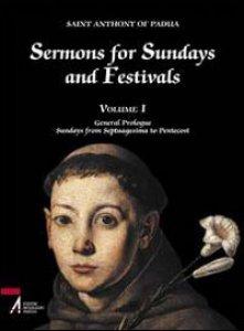 Copertina di 'Sermons for Sundays and Festivals I. General Prologue. Sundays from Septuagesima to Pentecost'