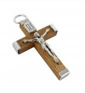 Immagine di 'Croce in legno naturale con retro in metallo - 3,2 cm'