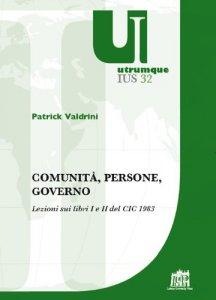 Copertina di 'Comunità, persone, governo'