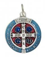 Medaglia San Benedetto tonda smaltata - 2,5 cm
