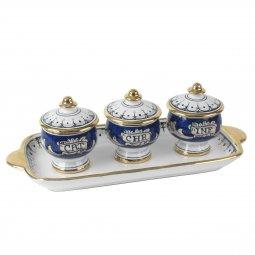 Copertina di 'Set Oli Piccolo - Modello Fondo blu e oro'