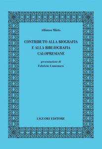 Copertina di 'Contributo alla biografia e alla bibliografia calopresiane'