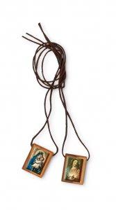 Copertina di 'Scapolare Madonna del Carmine e Sacro Cuore di Gesù - 2 cm'
