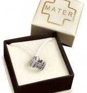 Immagine di 'Anello rosario argento colore brunito e decine argento lucido mm 17'